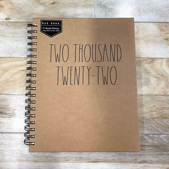Rae Dunn Two Thousand Twenty-Two Monthly Planner